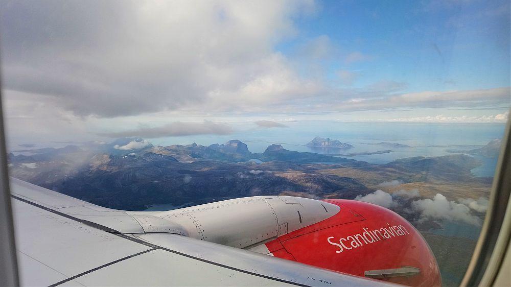 Anflug auf Bodø