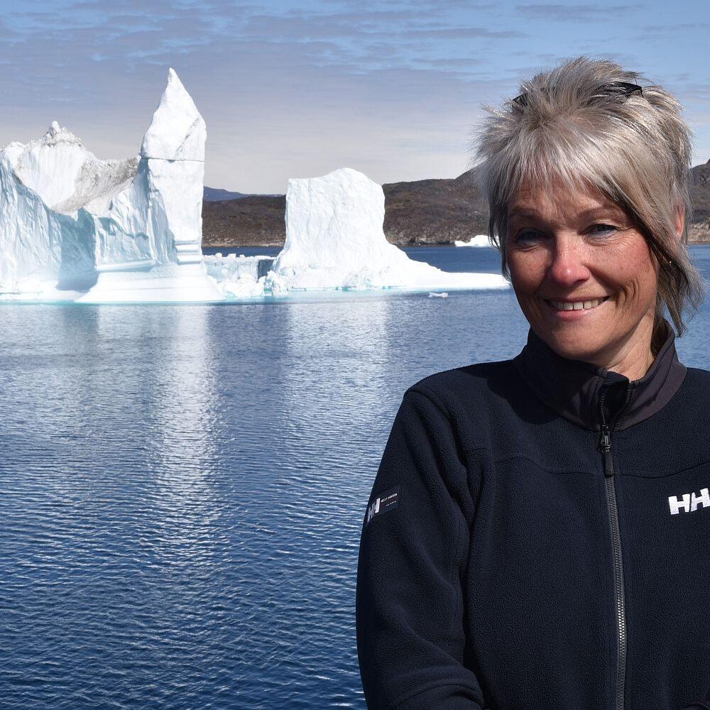 Birgit und ein Eisberg