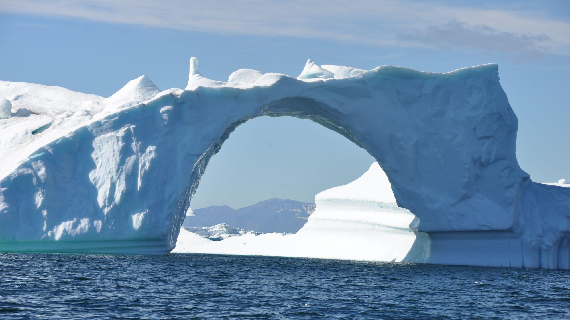 Eisbrücke in Grönland