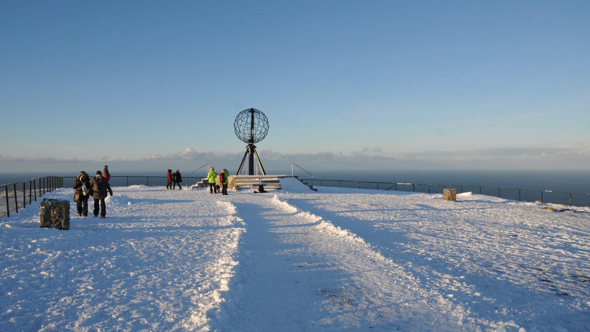 Nordkap im Winter