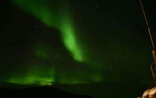 Nordlicht über Hurtigruten