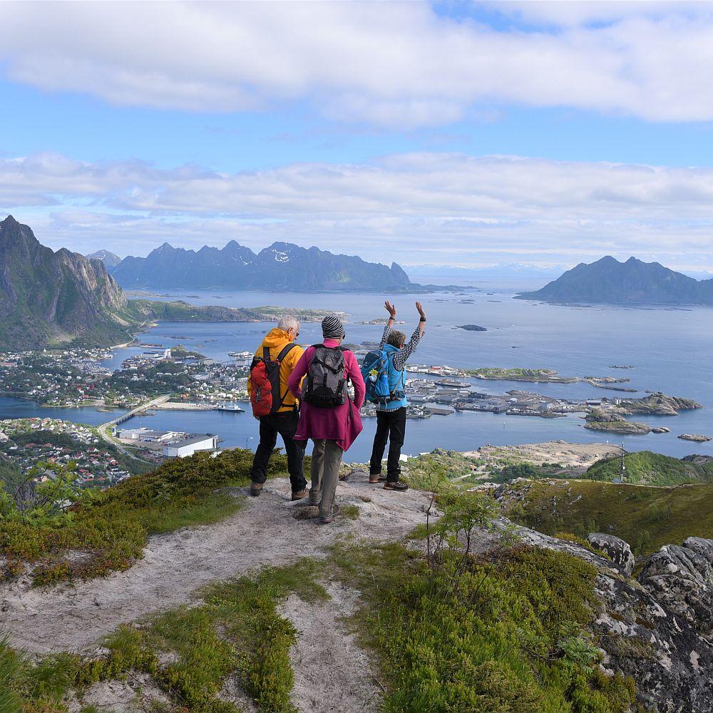 Gruppe auf dem Tjellbergtinden