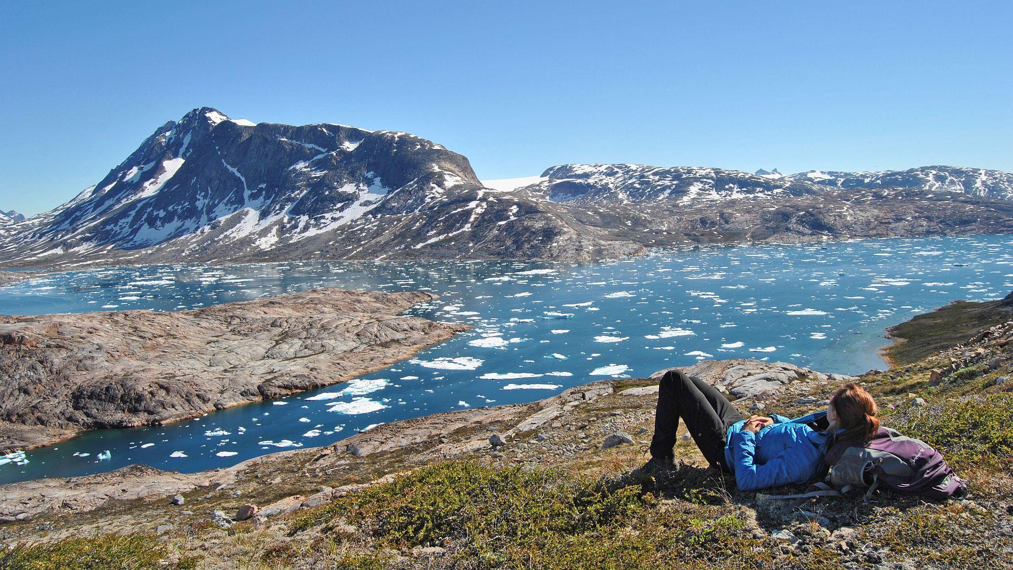 Grönland Sommer Pause amFjord