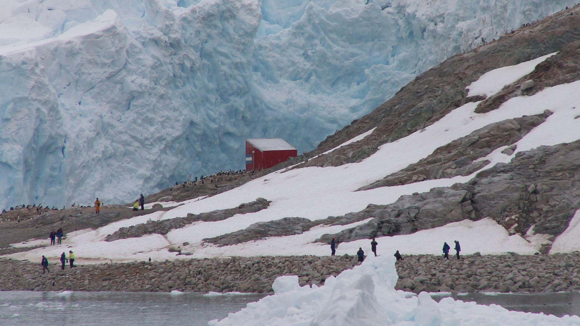 Anlandung Antarktis