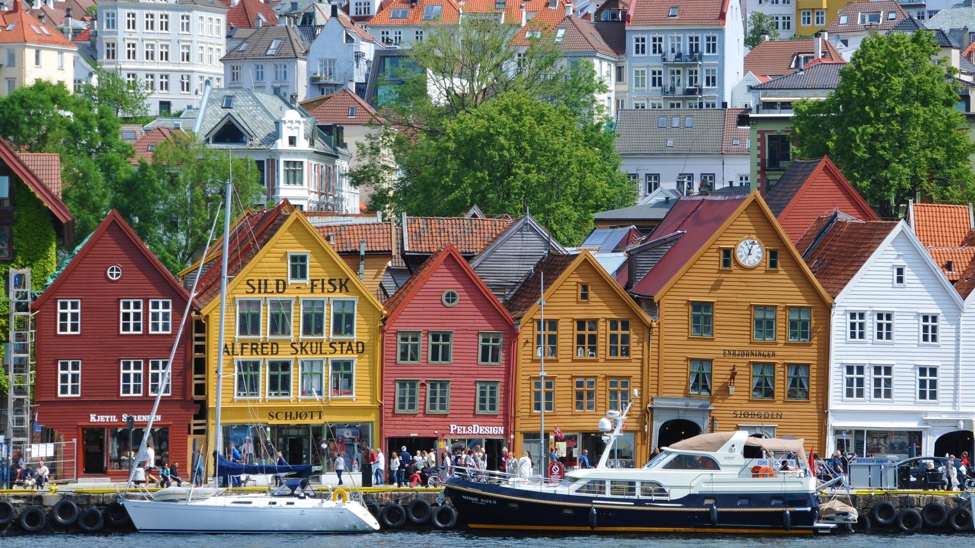 Handelshäuser Bergen Bryggen