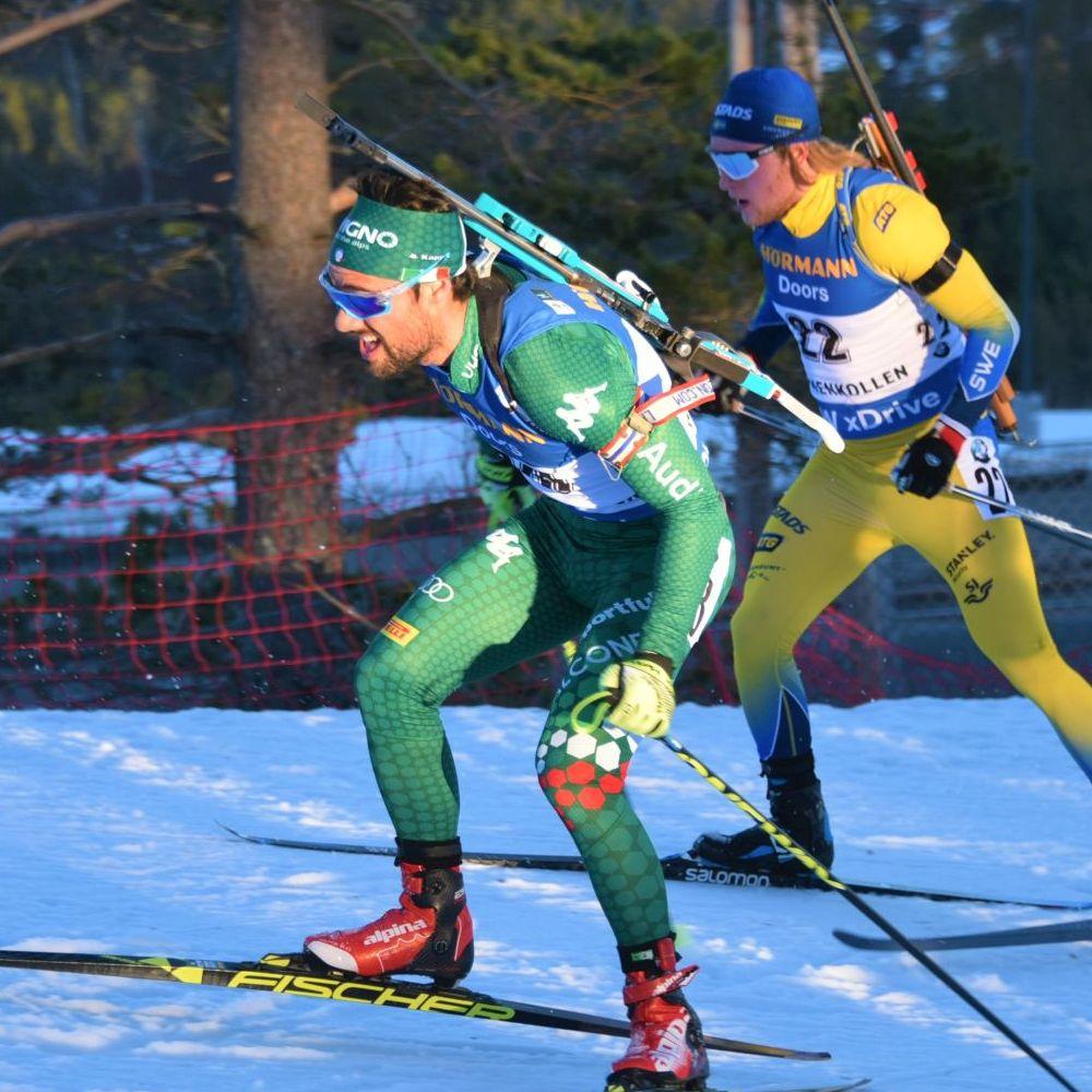 Zweikampf beim Biathlon