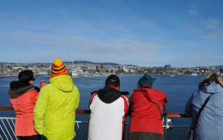 Abfahrt der Color Line in Oslo
