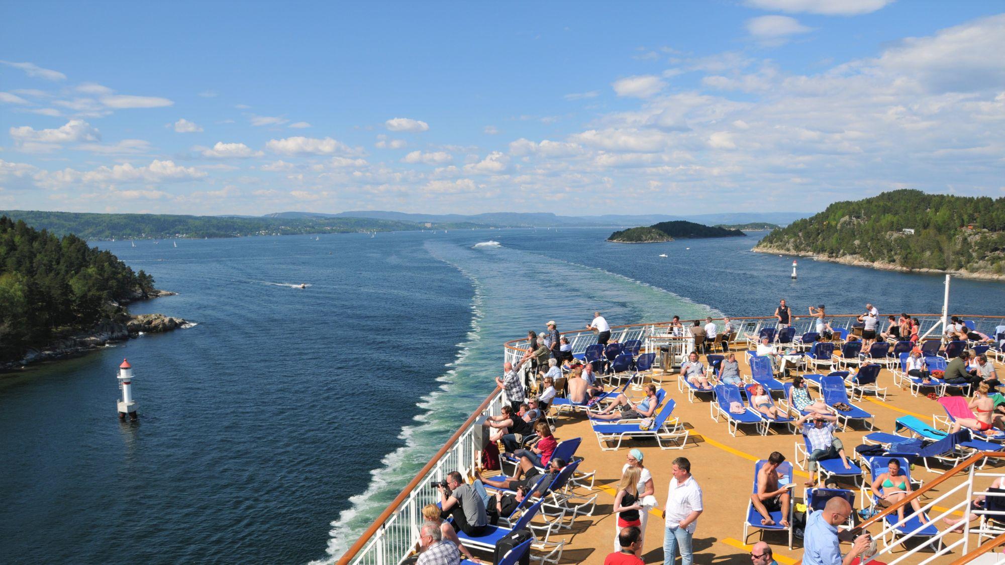 Color Line im Oslofjord