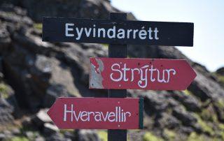 Wegweiser auf Island