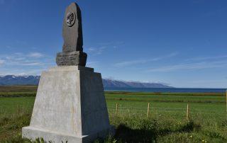 Gedenkstein auf Island