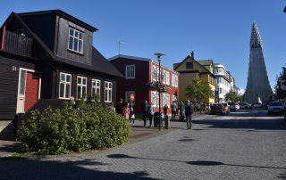 Straße in Reykjavík