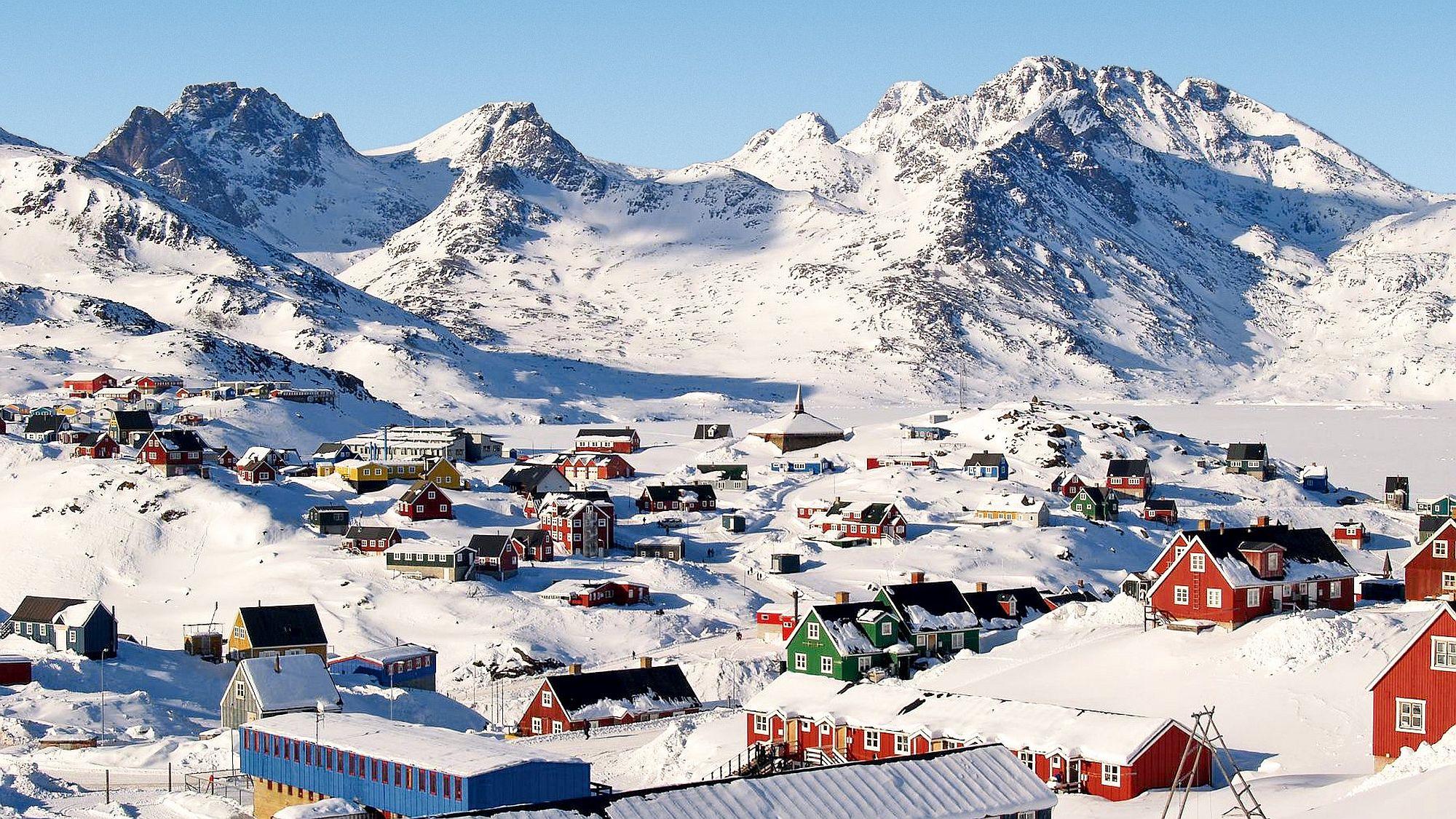 Winterlansschaft in Ostgrönland