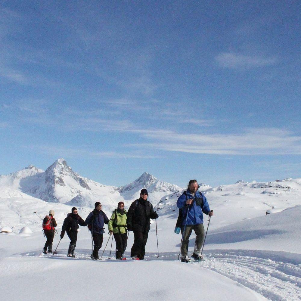 Grönland Winter Schneeschuhwanderung