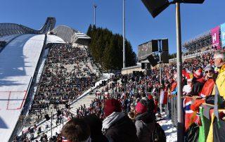 Holmenkollenschanze von der Tribüne