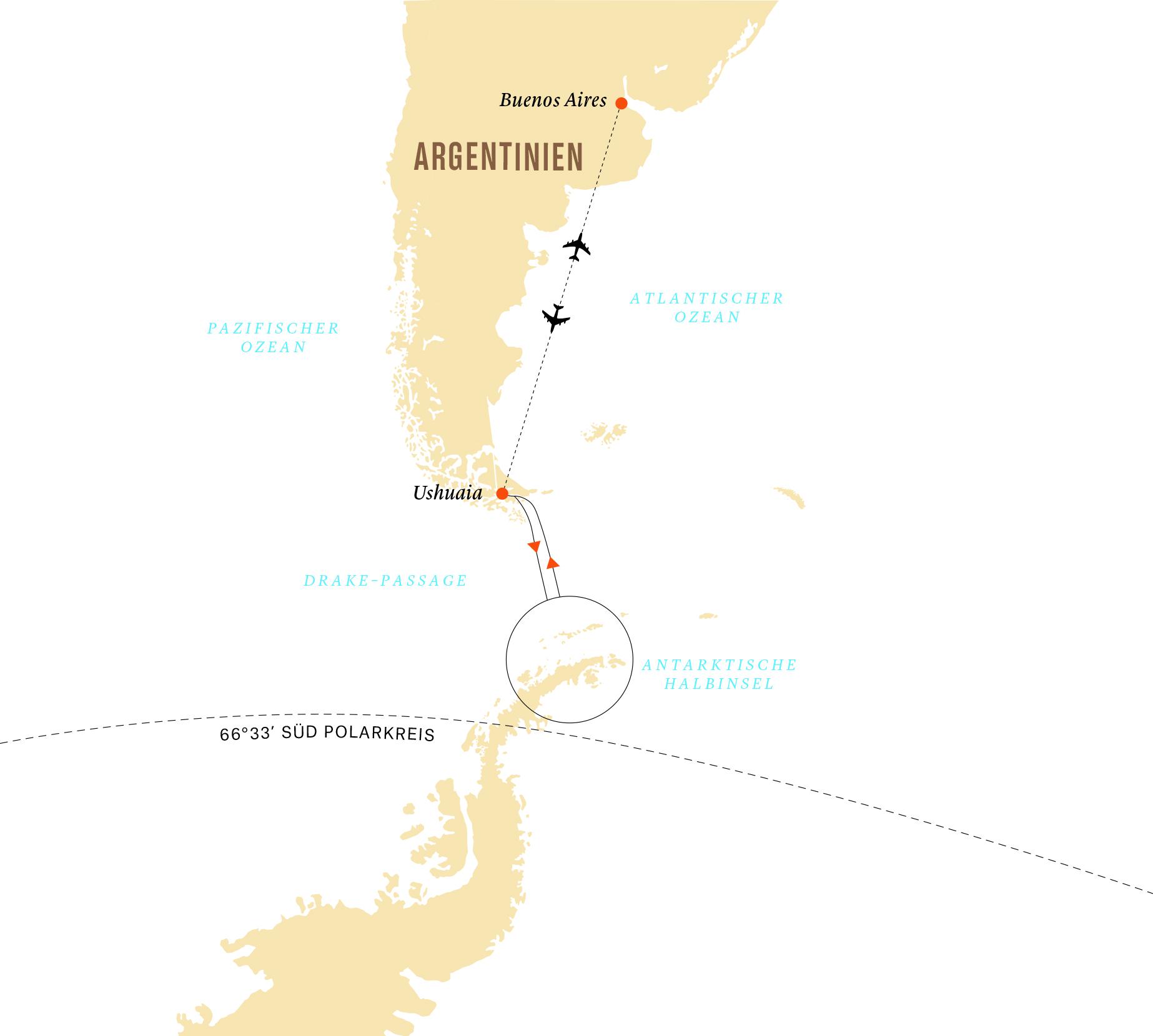 Karte Abenteuer Antarktis
