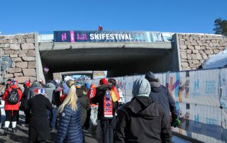 Skisprung-Fans