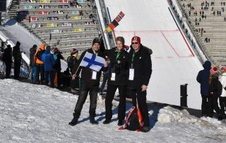 Fjordtra-Team am Holmenkollen
