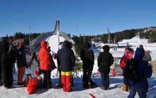 Blick auf Holmenkollenschanze