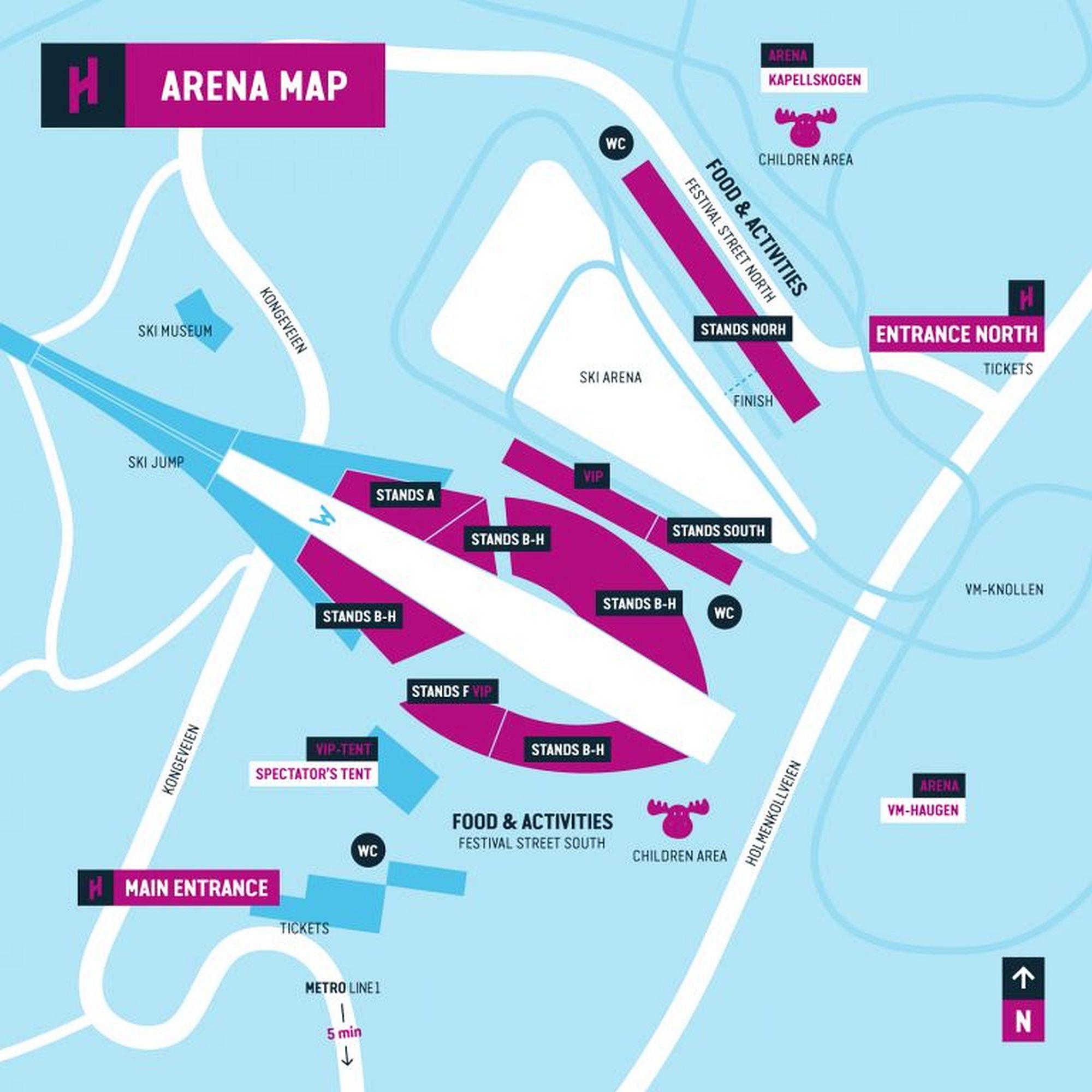 Arena Plan Holmenkollen Skifestival