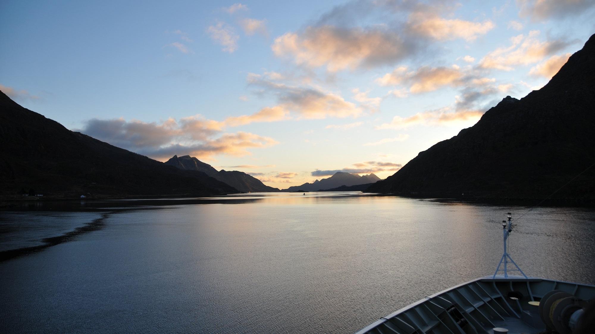 Raftsund an Bord der Hurtigruten
