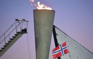 Olympisches Feuer in Lillehammer