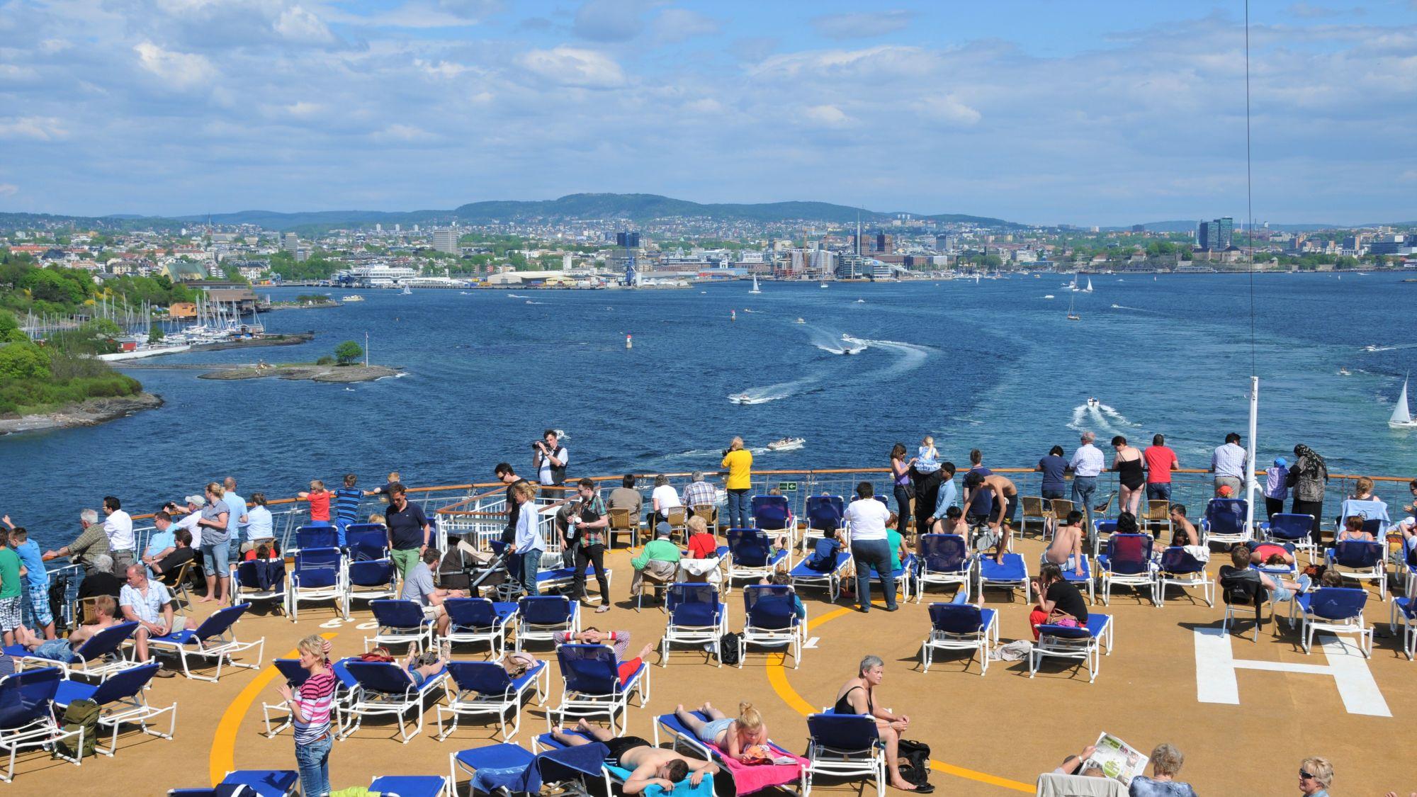 Blick auf Oslo von der Color Line