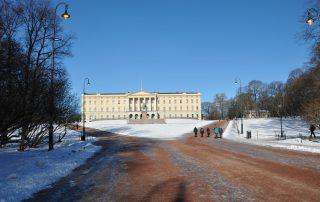 Königsschloss Oslo im Winter