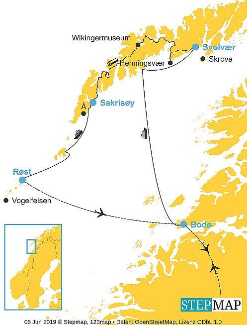 Entdeckerreise Lofoten karte