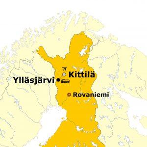 Standortkarte Ylläsjärvi