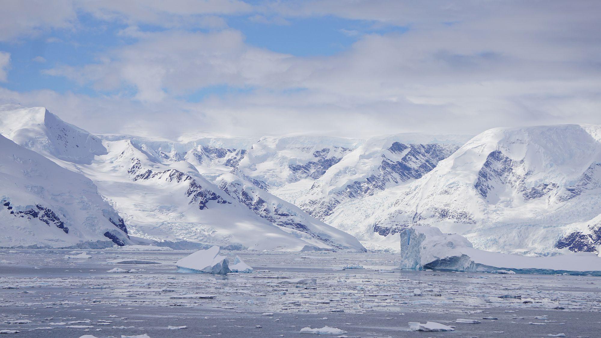 Schneelandschaft Antarktis