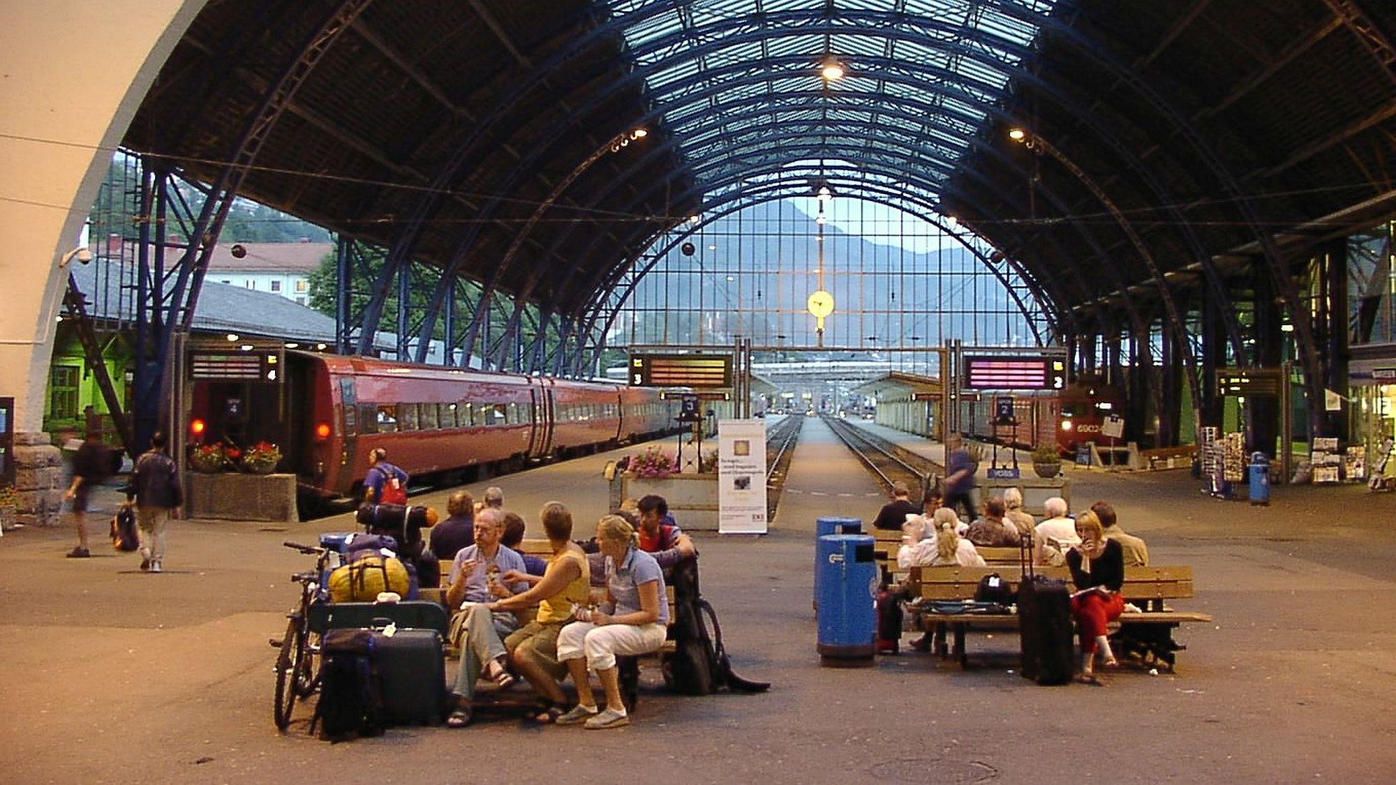Bahnhof in Bergen/Norwegen