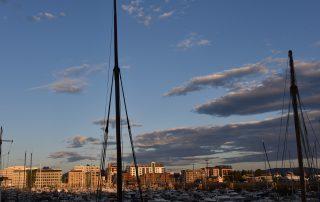 Bodø am Abend