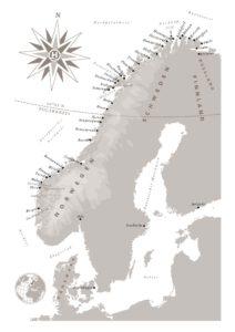 Hurtigruten Karte