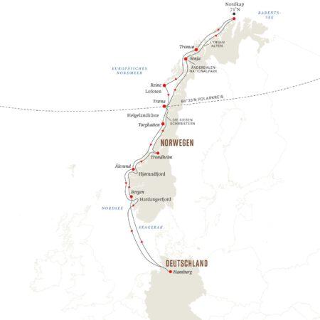 Route ab Hamburg Sommer 2022
