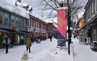 Fußgängerzone in Lillehammer